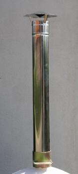 Schoorsteenpijp INOX incl. dakje 130 mm diameter