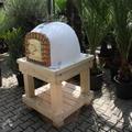 Robuust houten onderstel voor ovenmaat 80x80cm