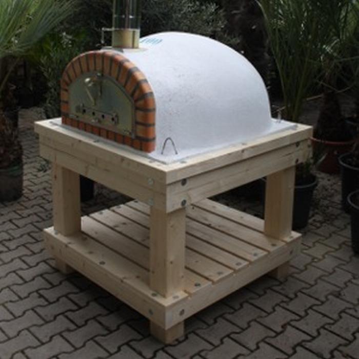 robuust houten onderstel voor ovenmaat 90x90cm. Black Bedroom Furniture Sets. Home Design Ideas