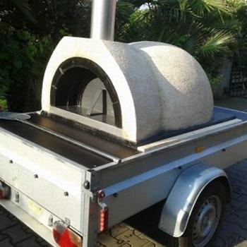 Verhuur Amalfi Family oven op aanhanger