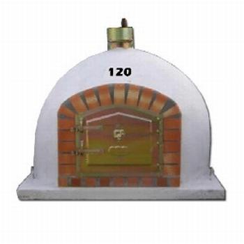 Holzbackofen 120 cm mit Kamin