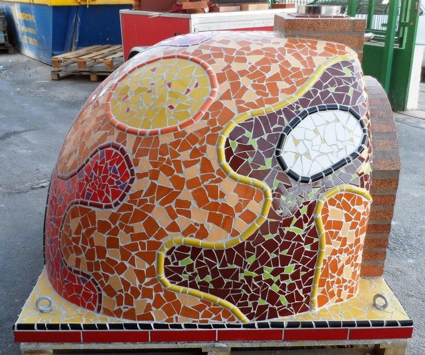 Exklusive Ofen Mosaik warmen Farben