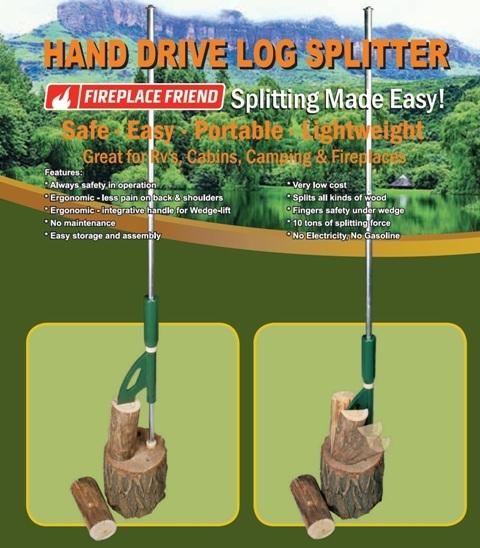 Handbediende houtklover/ driver log splitter