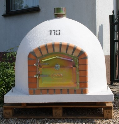 Holzbackofen 110 cm mit Kamin