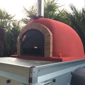 Pizzaoven op aanhangwagen