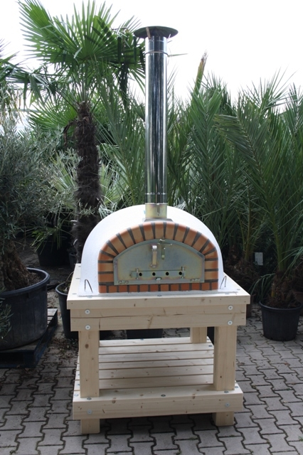 Robuust houten onderstel voor ovenmaat 100x100cm