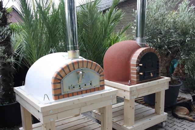 Robuust houten onderstel voor ovenmaat 90x90cm