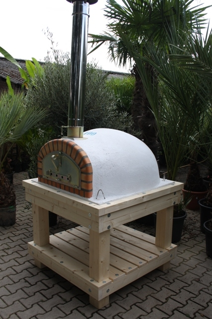 Robust Holz Untergestell für Ofengröße 90x90cm